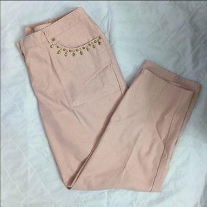 Embellished pink jeans